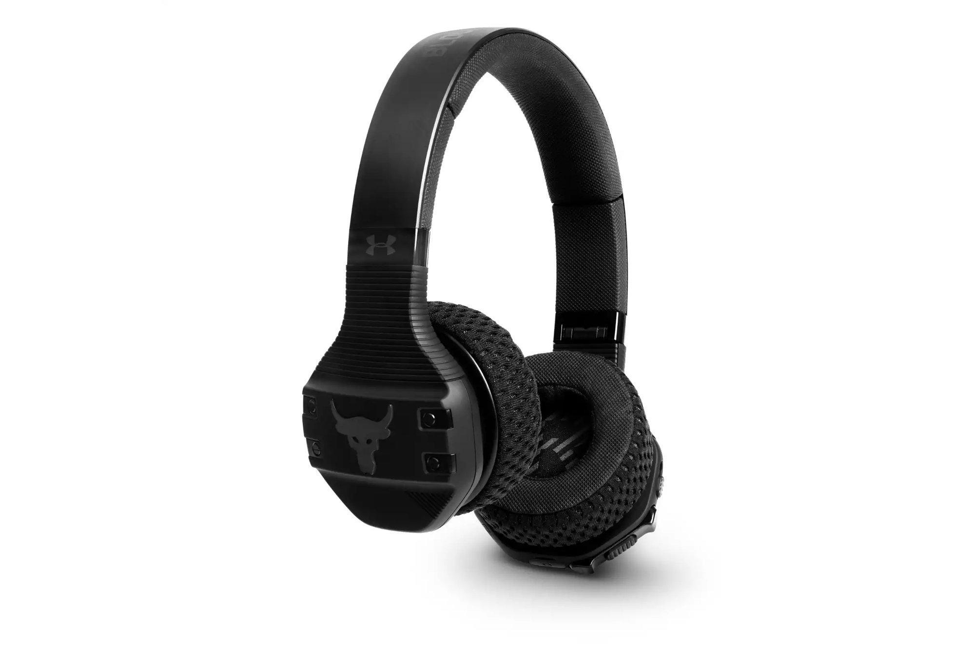 JBL - UA Sport Wireless Train Headphones Project Rock Edition Black