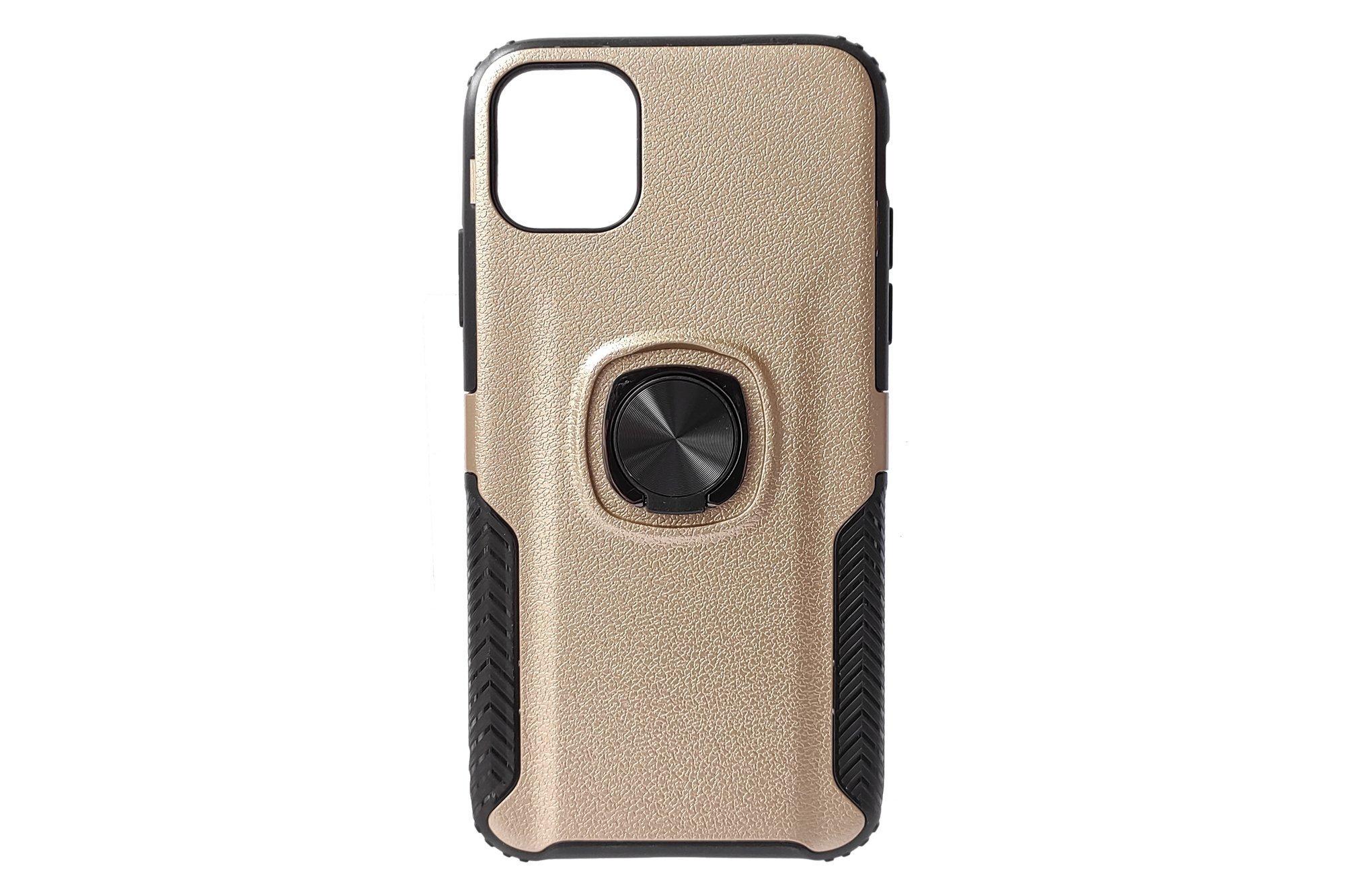 Etui ochronne Hjin Metallic Leather Ring Apple iPhone 11 Złoty
