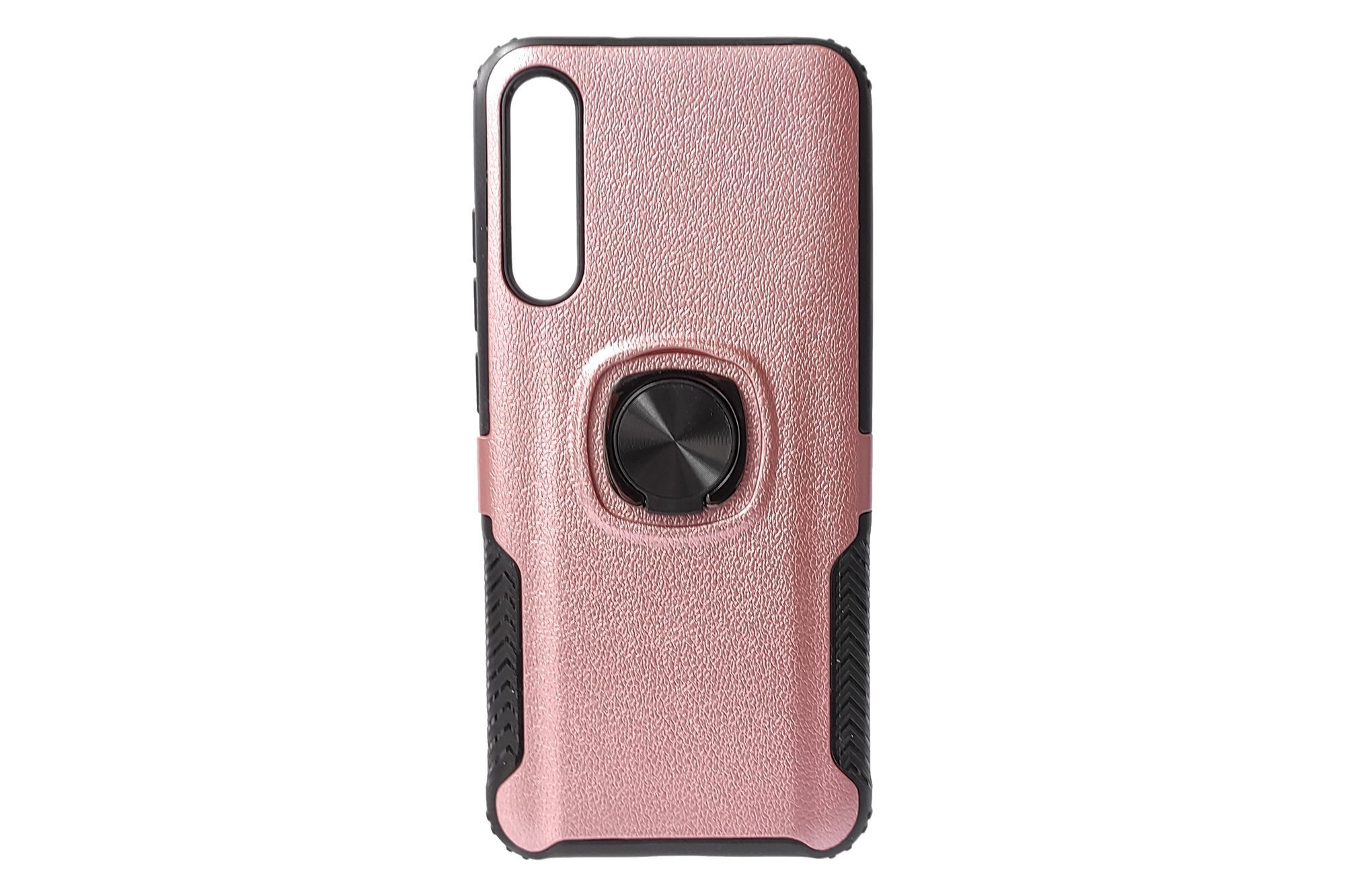 Etui ochronne Hjin Metallic Leather Ring Xiaomi Mi A3 Rose Gold
