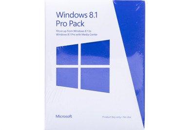 Windows Professional Pack 8.1 32bit/64bit Eng Intl PUP Non-Eu/Efta Medialess Windows To Professional Mc